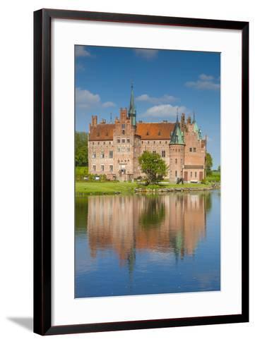 Denmark, Funen, Egeskov, Egeskov Castle, Exterior-Walter Bibikow-Framed Art Print