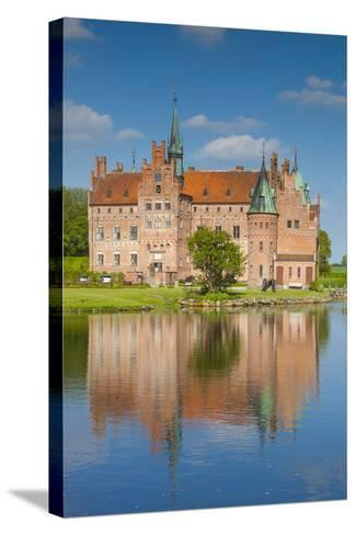 Denmark, Funen, Egeskov, Egeskov Castle, Exterior-Walter Bibikow-Stretched Canvas Print