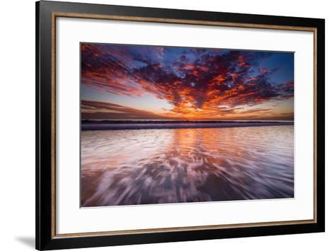 Sunset over the Channel Islands from Ventura State Beach, Ventura, California, Usa-Russ Bishop-Framed Art Print