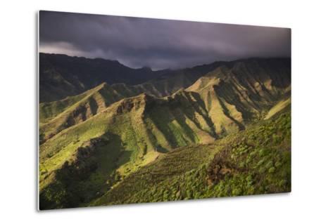 Spain, Canary Islands, La Gomera, Valle De Hermigua, Mountain Landscape, Dawn-Walter Bibikow-Metal Print
