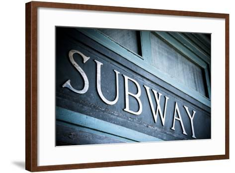 Hoboken, New Jersey Train Station Circa 1800S-Julien McRoberts-Framed Art Print