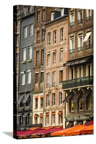 Shops and Galleries, Honfleur, Normandy, France-Russ Bishop-Stretched Canvas Print
