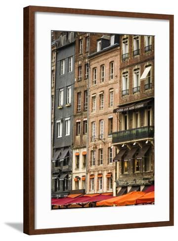Shops and Galleries, Honfleur, Normandy, France-Russ Bishop-Framed Art Print