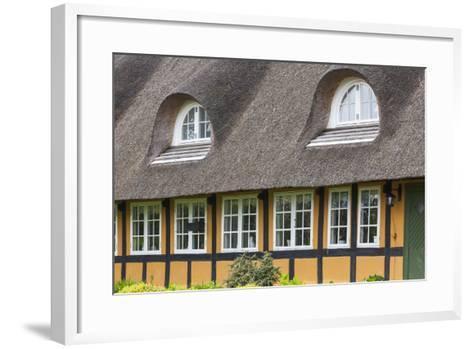 Denmark, Tasinge, Troense, Traditional Danish House-Walter Bibikow-Framed Art Print