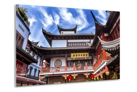 Old Shanghai Houses, Red Roofs, Yuyuan Old Town, Shanghai, China-William Perry-Metal Print