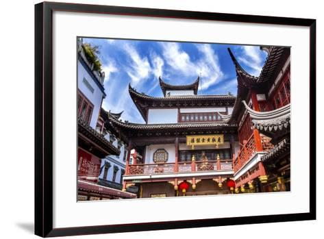 Old Shanghai Houses, Red Roofs, Yuyuan Old Town, Shanghai, China-William Perry-Framed Art Print