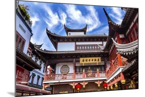 Old Shanghai Houses, Red Roofs, Yuyuan Old Town, Shanghai, China-William Perry-Mounted Photographic Print