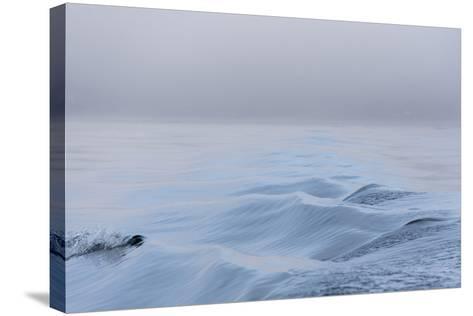 Washington State, Puget Sound Wake Patterns on Calm Water Reflecting Moody Light. Dense Fog-Trish Drury-Stretched Canvas Print
