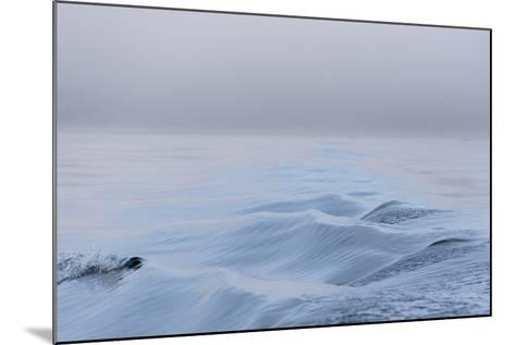Washington State, Puget Sound Wake Patterns on Calm Water Reflecting Moody Light. Dense Fog-Trish Drury-Mounted Photographic Print