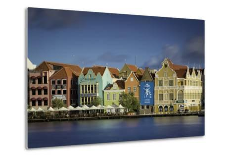 Colorful Dutch Architecture Lines the Wharf at Willemstad, Curacao, West Indies-Brian Jannsen-Metal Print