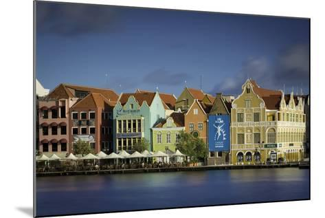 Colorful Dutch Architecture Lines the Wharf at Willemstad, Curacao, West Indies-Brian Jannsen-Mounted Photographic Print