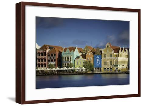 Colorful Dutch Architecture Lines the Wharf at Willemstad, Curacao, West Indies-Brian Jannsen-Framed Art Print