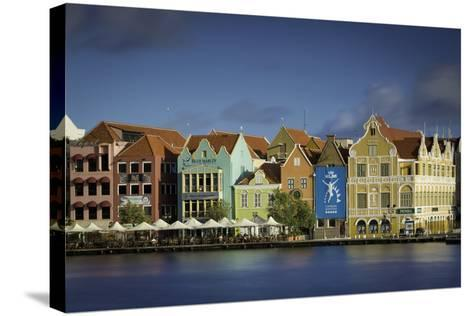 Colorful Dutch Architecture Lines the Wharf at Willemstad, Curacao, West Indies-Brian Jannsen-Stretched Canvas Print