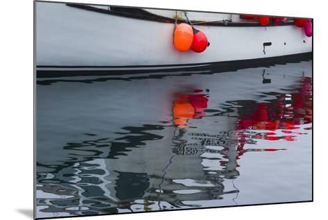 Massachusetts, Cape Ann, Rockport, Granite Pier, Lobster Boats-Walter Bibikow-Mounted Photographic Print