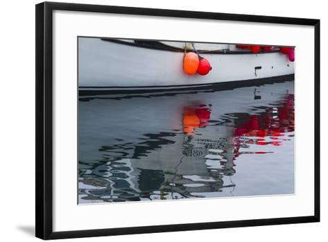 Massachusetts, Cape Ann, Rockport, Granite Pier, Lobster Boats-Walter Bibikow-Framed Art Print
