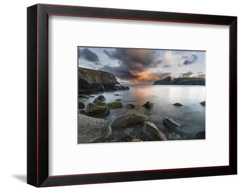 Fair Isle. in the Far North of Scotland. the Coast Near Finni Quoy. Scotland, Shetland Islands-Martin Zwick-Framed Art Print