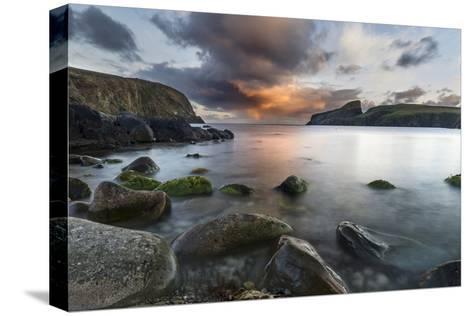 Fair Isle. in the Far North of Scotland. the Coast Near Finni Quoy. Scotland, Shetland Islands-Martin Zwick-Stretched Canvas Print