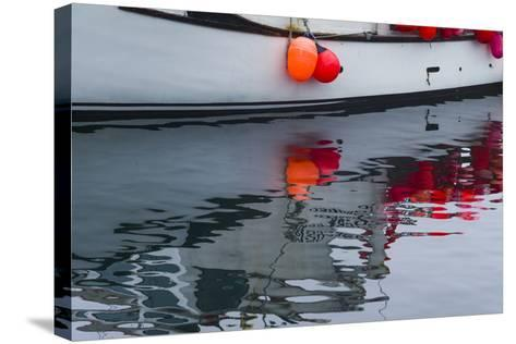 Massachusetts, Cape Ann, Rockport, Granite Pier, Lobster Boats-Walter Bibikow-Stretched Canvas Print