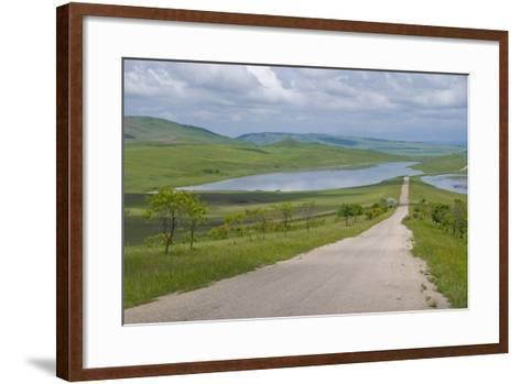 Country Road Leading Through Meadows, Davit Gareja, Georgia, Caucasus-Michael Runkel-Framed Art Print
