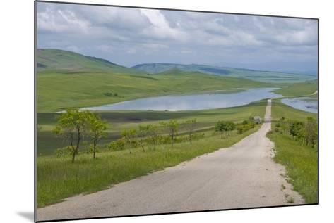 Country Road Leading Through Meadows, Davit Gareja, Georgia, Caucasus-Michael Runkel-Mounted Photographic Print