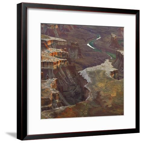 Aerial Viewed from the Green River Overlook, Canyonlands National Park, Utah-Tim Fitzharris-Framed Art Print