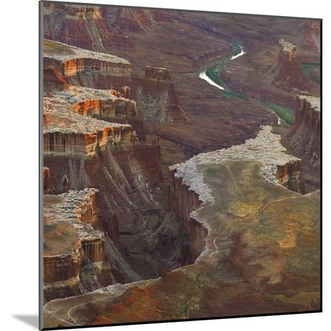 Aerial Viewed from the Green River Overlook, Canyonlands National Park, Utah-Tim Fitzharris-Mounted Photographic Print