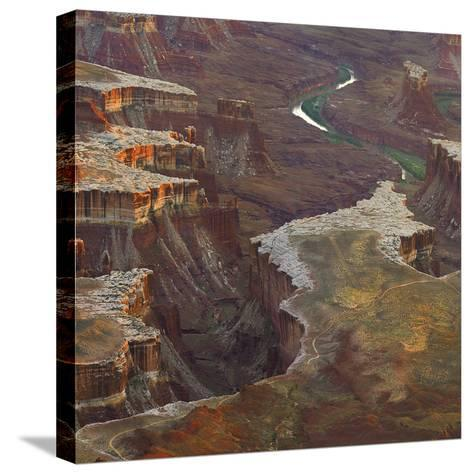 Aerial Viewed from the Green River Overlook, Canyonlands National Park, Utah-Tim Fitzharris-Stretched Canvas Print