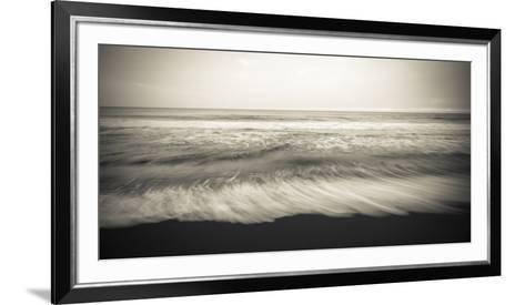 Waves, Waipio Valley Beach, Hamakua Coast, the Big Island, Hawaii-Russ Bishop-Framed Art Print