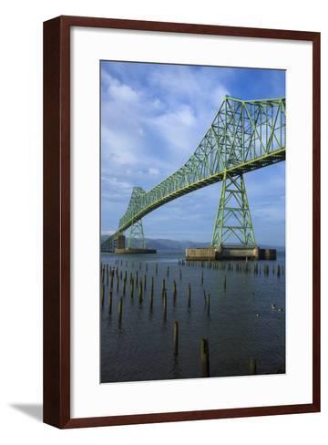 Oregon, Astoria, Astoria-Megler Bridge-Rick A^ Brown-Framed Art Print