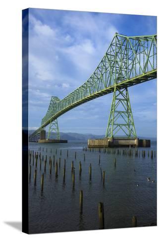 Oregon, Astoria, Astoria-Megler Bridge-Rick A^ Brown-Stretched Canvas Print