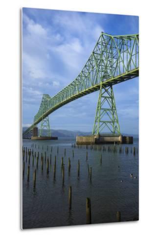 Oregon, Astoria, Astoria-Megler Bridge-Rick A^ Brown-Metal Print