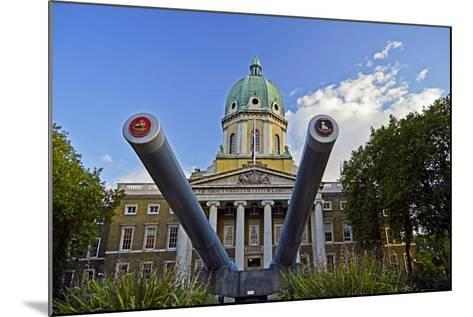 England, London Borough of Lambeth, Kennington. Cannon Outside the The Imperial War Museum-Pamela Amedzro-Mounted Photographic Print