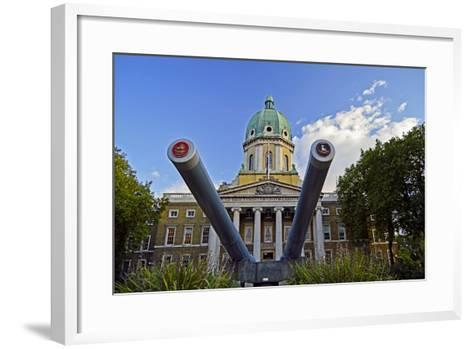 England, London Borough of Lambeth, Kennington. Cannon Outside the The Imperial War Museum-Pamela Amedzro-Framed Art Print
