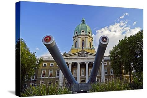 England, London Borough of Lambeth, Kennington. Cannon Outside the The Imperial War Museum-Pamela Amedzro-Stretched Canvas Print