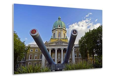 England, London Borough of Lambeth, Kennington. Cannon Outside the The Imperial War Museum-Pamela Amedzro-Metal Print