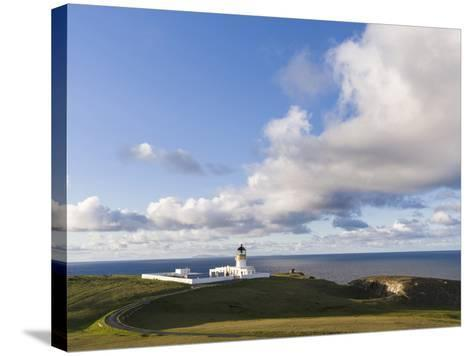 North Lighthouse. Fair Isle, Scotland, Shetland Islands-Martin Zwick-Stretched Canvas Print