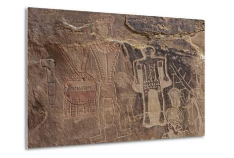 Usa Three Kings Petroglyph, Dinosaur National Monument-Judith Zimmerman-Metal Print