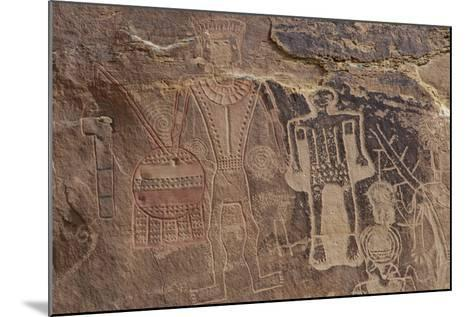 Usa Three Kings Petroglyph, Dinosaur National Monument-Judith Zimmerman-Mounted Photographic Print