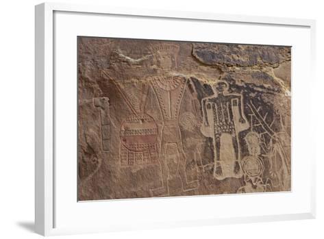 Usa Three Kings Petroglyph, Dinosaur National Monument-Judith Zimmerman-Framed Art Print