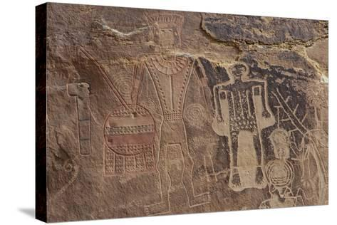 Usa Three Kings Petroglyph, Dinosaur National Monument-Judith Zimmerman-Stretched Canvas Print