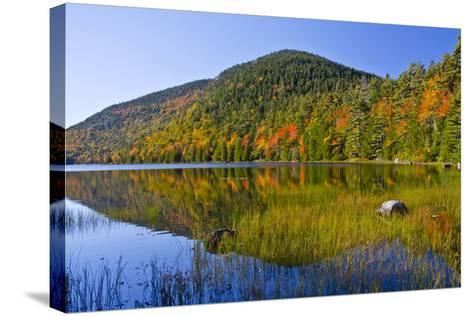 Autumn Reflections, Bubble Pond, Acadia National Park, Maine, Usa-Michel Hersen-Stretched Canvas Print