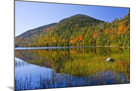 Autumn Reflections, Bubble Pond, Acadia National Park, Maine, Usa-Michel Hersen-Mounted Photographic Print