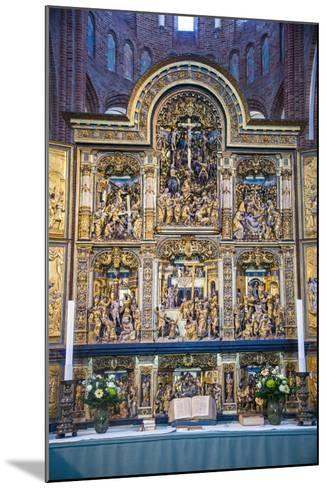 Golden Altar in the Cathedral of Roskilde, Denmark-Michael Runkel-Mounted Photographic Print