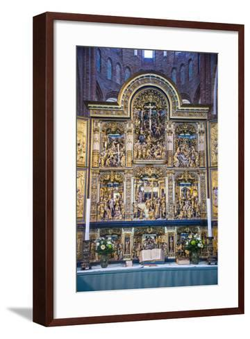 Golden Altar in the Cathedral of Roskilde, Denmark-Michael Runkel-Framed Art Print