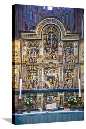 Golden Altar in the Cathedral of Roskilde, Denmark-Michael Runkel-Stretched Canvas Print