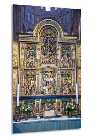 Golden Altar in the Cathedral of Roskilde, Denmark-Michael Runkel-Metal Print