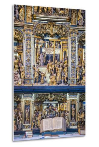 Golden Altar in the Cathedral of Roskilde, Denmark-Michael Runkel-Metal Print