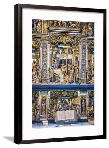 Golden Altar in the Cathedral of Roskilde, Denmark-Michael Runkel-Framed Art Print