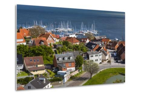 Denmark, Zealand, Vordingborg, Elevated Town View-Walter Bibikow-Metal Print