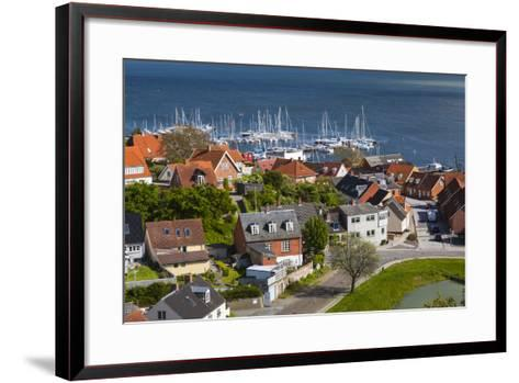 Denmark, Zealand, Vordingborg, Elevated Town View-Walter Bibikow-Framed Art Print